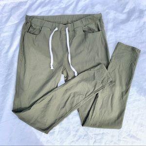 Elastic Waist Skinny Pants